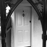 Victorian White Front Door with Four Timber Panels