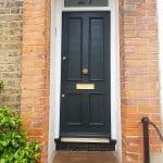 Victorian London Front Door with Brass Door Furniture