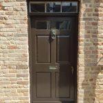 London Georgian Front Door in Wood Stain