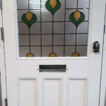 Internal View of Tradtional Edwardian Front Door with Leaded Glass