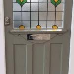 Georgian Front Door in Farrow & Ball Treron Green Paint