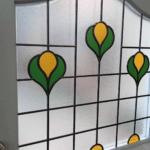 Lemon Tulip Leaded Glass Design For Front Doors