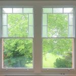 Combination Sash Window with Obscure Glass