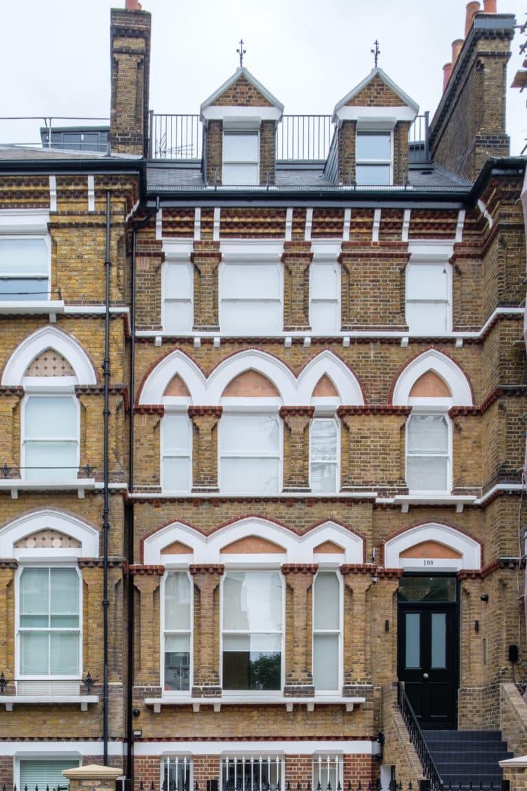 Typical Victorian Sash Window and Front Door