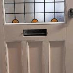 Hardwood Meranti Edwardian Front Door in White RAL 9016