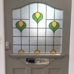 Traditional Edwardian Front Door with Leaded Glass